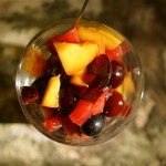 סלט של פירות אדומים
