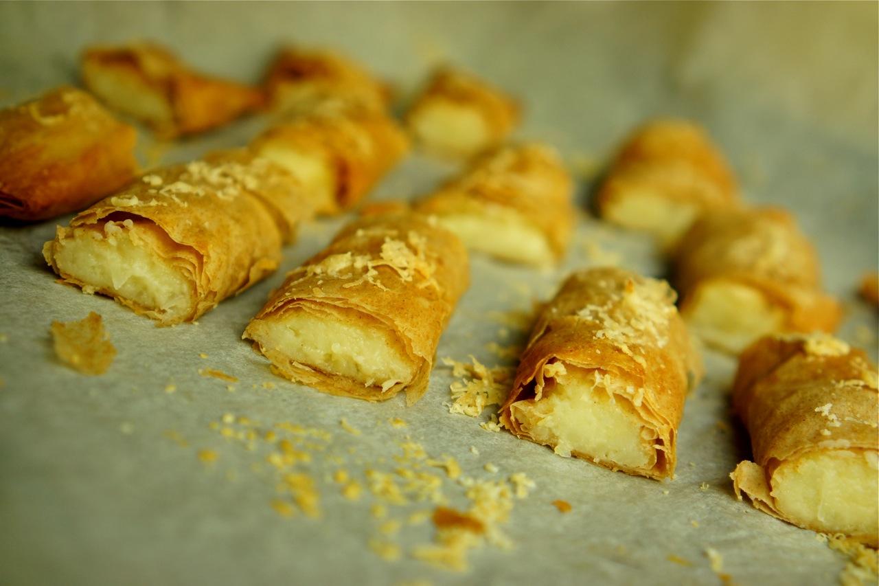 גלילות פילו במילוי תפוח אדמה וגבינות, גבישס -בלוג האוכל של מירב גביש