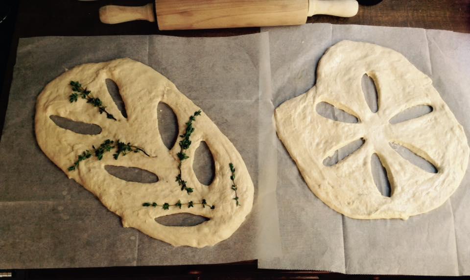 פוגאס, לחם צרפתי שטוח, גבישס, בלוג האוכל של מירב גביש