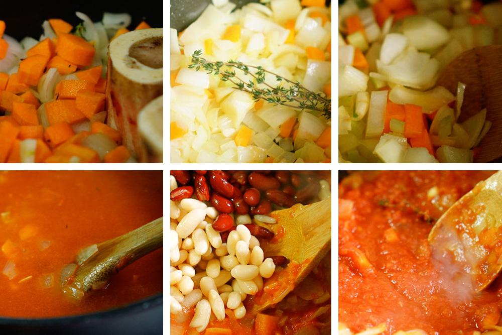 שלבי הכנה - מרק שעועית - גבישס, בלוג האוכל של מירב גביש
