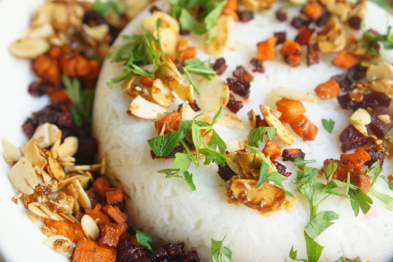 אורז מגונדר עם סלק ודלעת, גבישס - בלוג האוכל של מירב גביש