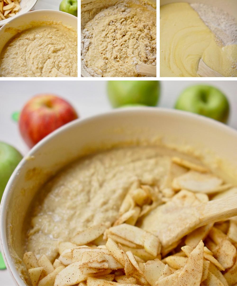 שלבי הכנה. עוגת תפוחים בחושה בכל טוב, גבישס, בלוג האוכל של מירב גביש